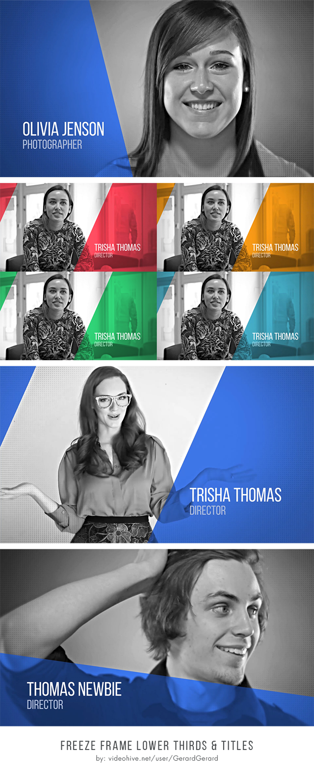 Clean & Corporate Freeze Frame Lower Thirds After Effects Template ...