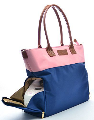 """Authentic From Manufacturer Sarah Wells /""""Abby/"""" Breast Pump Bag Navy"""