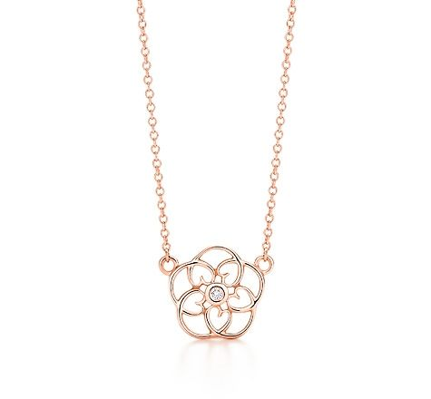 9b240a07490a2 Tiffany & Co. | Item | Paloma Picasso® Loving Heart swirl pendant in 18k  rose gold with a diamond. | United States