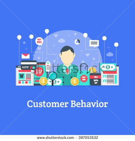 Customer Behavior - Marketing Vector - Shutterstock