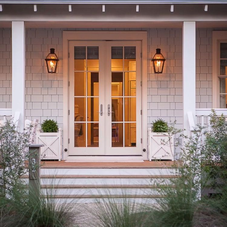 Coastal Porch Outdoor Entryway Outdoor Shutters House Exterior