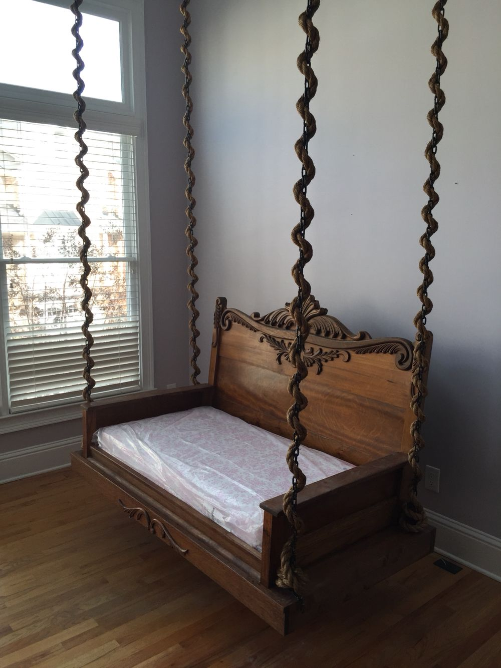 Rope Swing Bed Porch Made Of