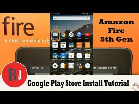 Amazon Fire 7in 5th Gen Google Play Store Install and remove lock