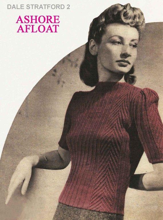 Vintage Ladies Sweater Knitting Pattern 19401950 Pdf Pattern