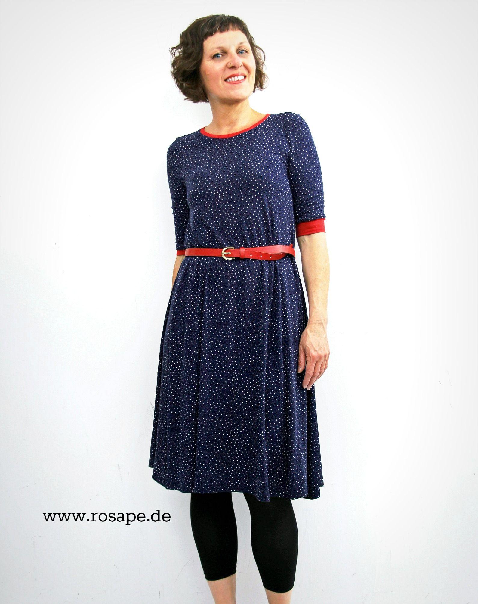 Das blau-rote rosa p. Kleid Nr. 2 | Du findest das Schnittmuster als ...