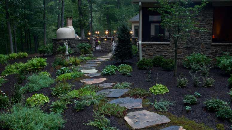 Image Result For Wooded Driveway Landscaping Ideas Outdoor Landscaping Outdoor Landscape Lighting Natural Landscaping