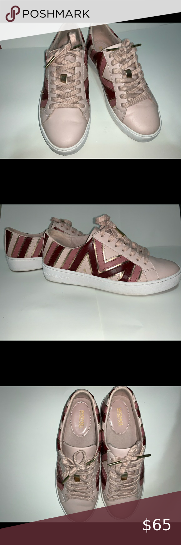 michael kors whitney leather sneaker