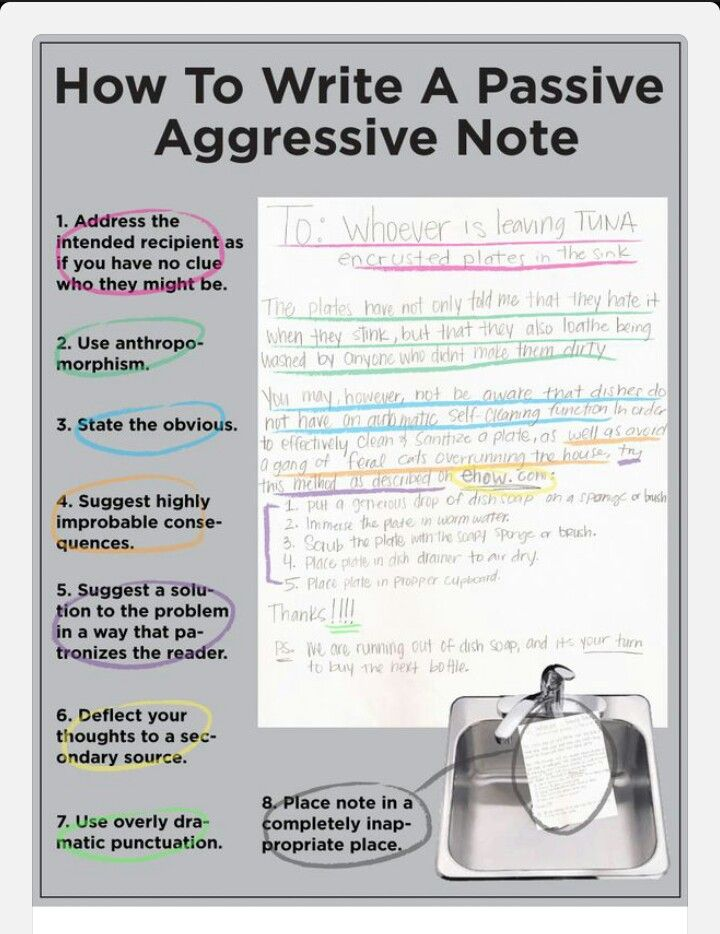 How to write a passive aggressive note How to Survive Life - how to write a