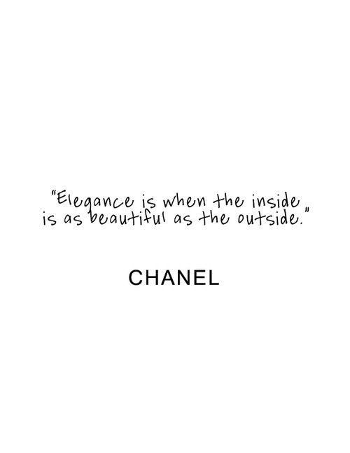 elegance Chanel / quote