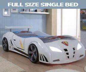 Speedster Ventura Race Car Bed White Car Bed Kid Beds Boys