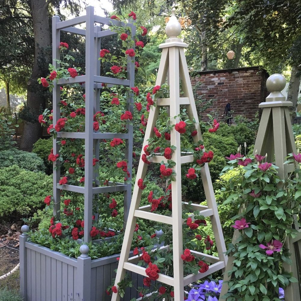 Wooden Garden Obelisk Tower, Accoya Painted Any Colour
