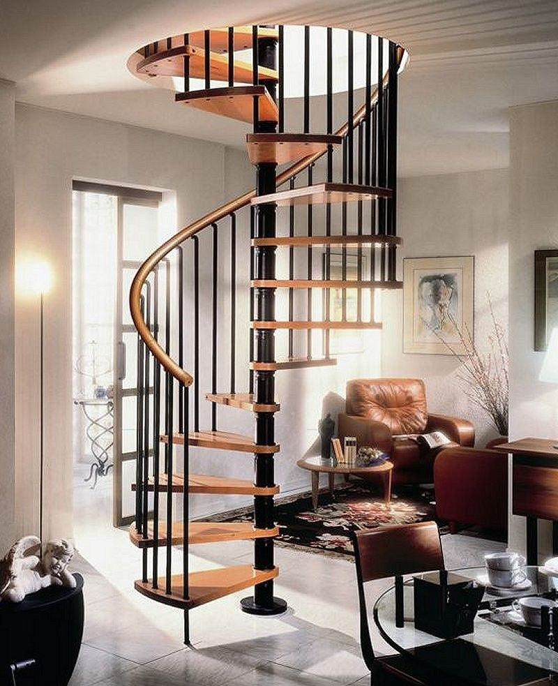 Best Gamia Deluxe Black Spiral Staircase 1200Mm Dia With Real 400 x 300