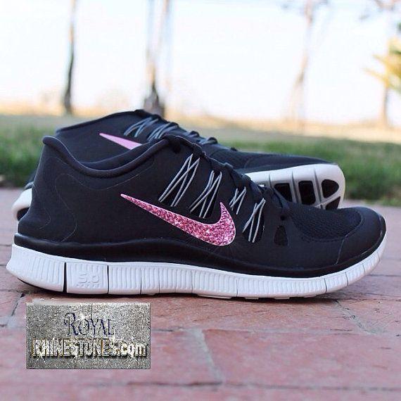 b1422522f1dd Nike Free Run 5.0 w  Swarovski Rhinestones by RoyalRhinestones ...