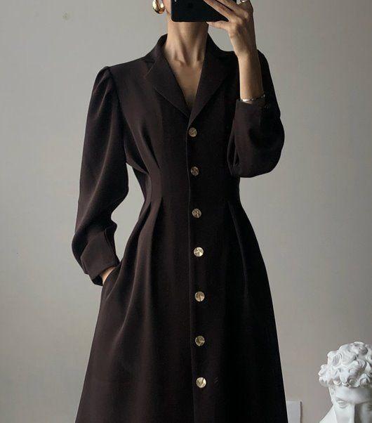 모듀스 Modus #brown #coat #winter #outerwear #classic #style #fashion #2019fallfashiontrends