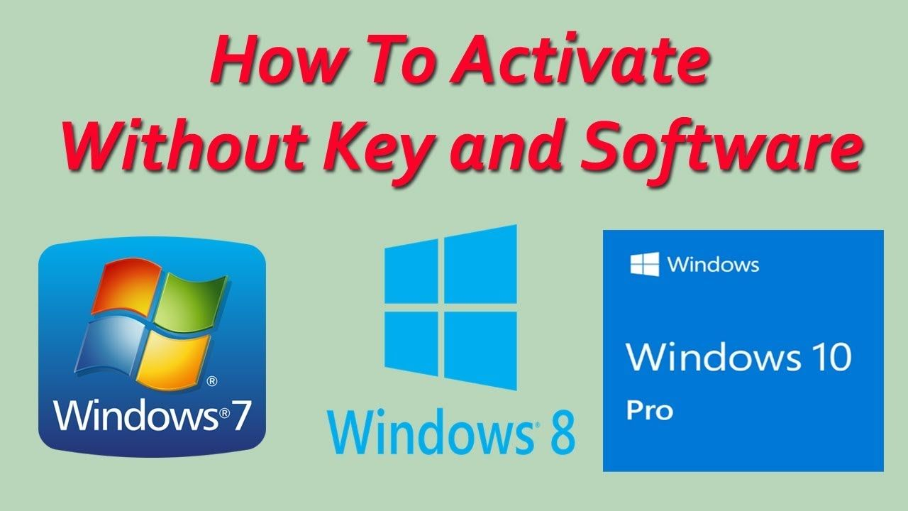 How To Activate Window 7 8 8 1 10 Without Product Key And Software Software Windows Software Windows
