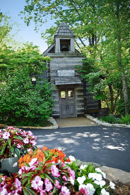 Silver Dollar City Wilderness Chapel During Spring