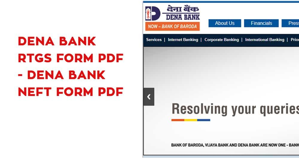 Dena Bank Rtgs Form Pdf Dena Bank Neft Form Pdf Https Banksguide In Dena Bank Rtgs Form Pdf Dena Bank Ne Corporate Bank Bank Of Baroda International Bank