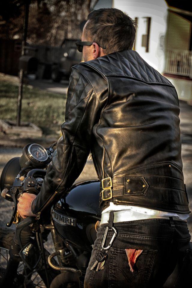 e783bb23 Vanson Chopper Jacket Back Biker Chaqueta, Chaqueta Moto, Chaqueta Hombre,  Chaqueta De Cuero