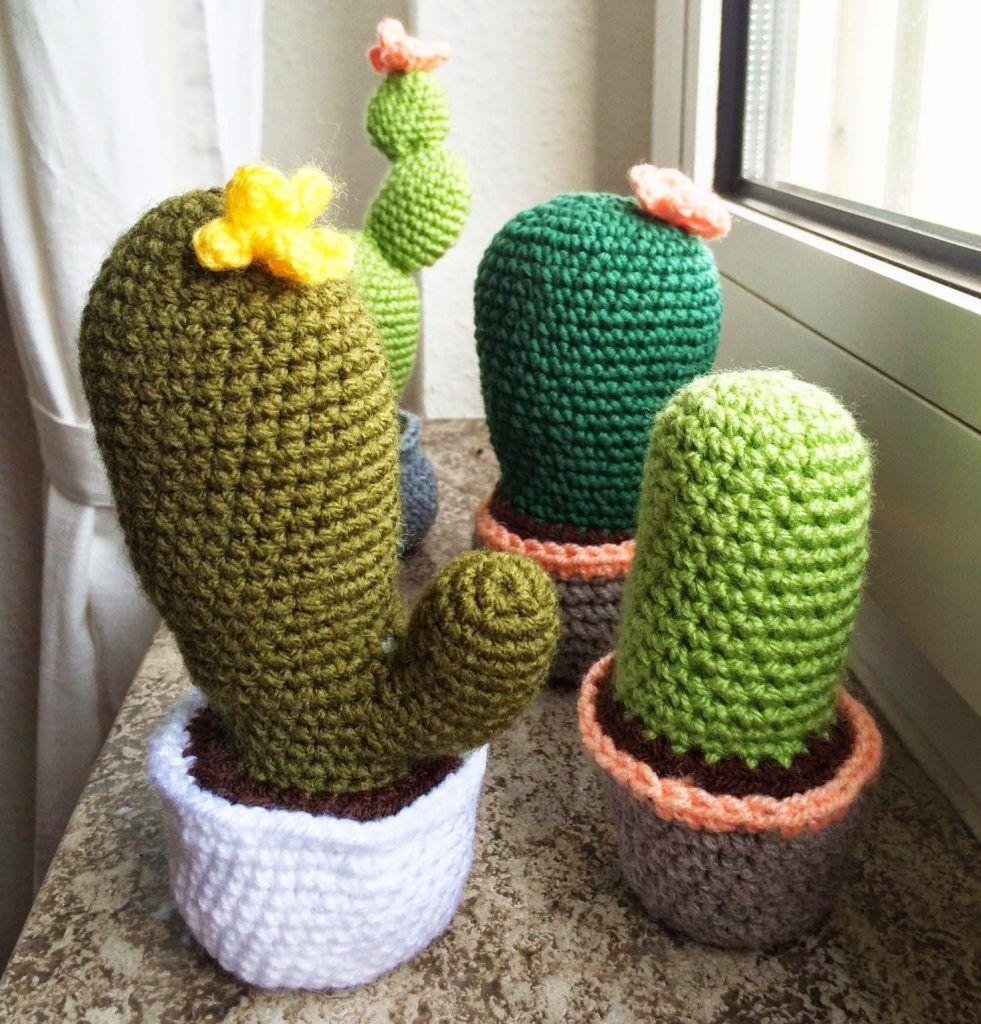 Mein kleiner grüner Kaktus... Anleitung für einen Häkelkaktus ...