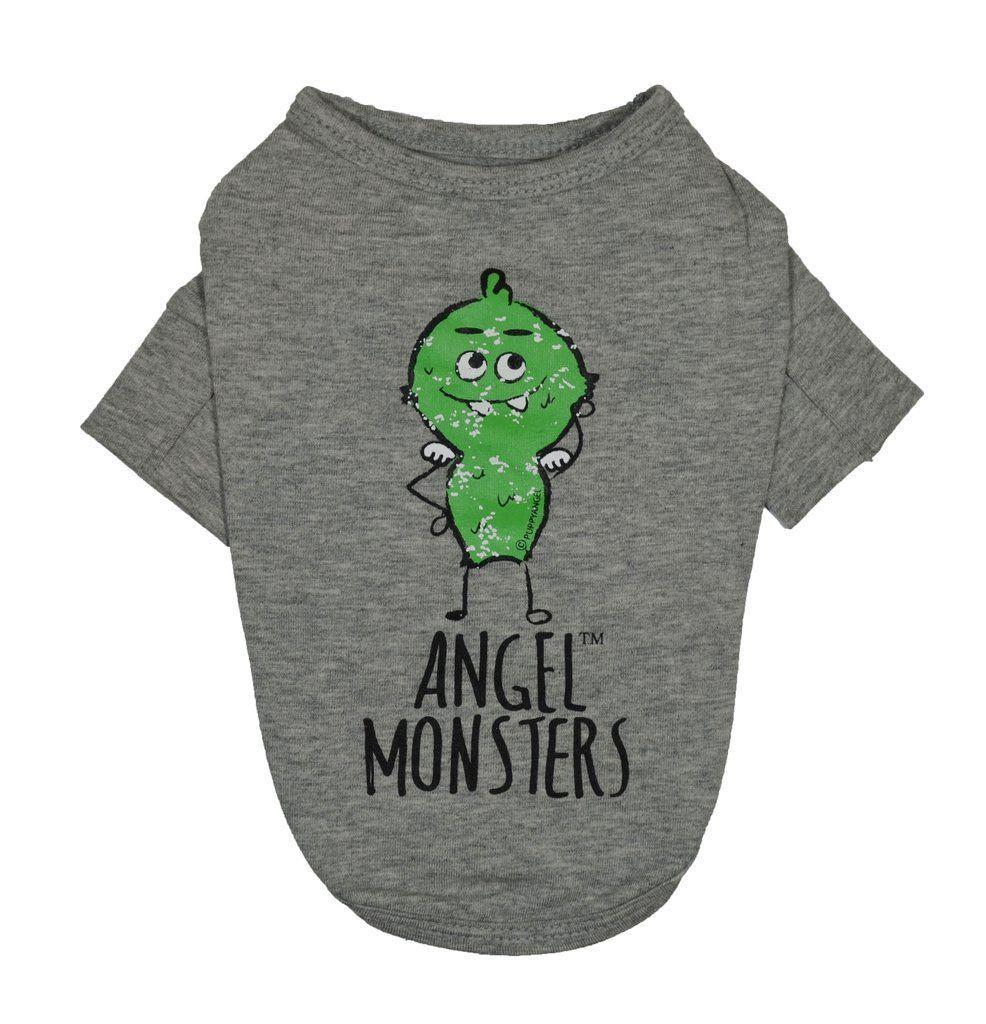 Angel monster long sleeves dog tshirt grey dog shirts pinterest