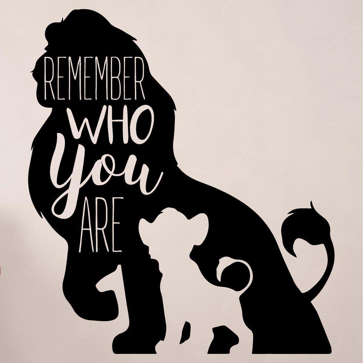 Der König der Löwen Remember Who You Are T-Shirt schwarz