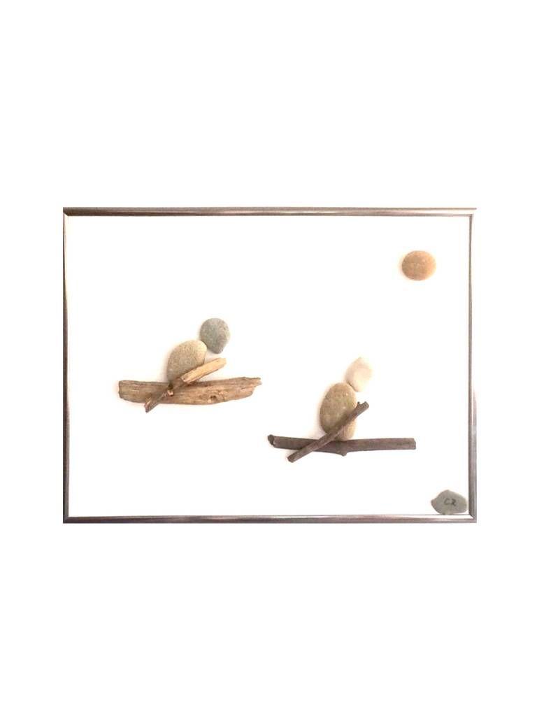 """Wettkampf der Ruderer"" pebbles art, craft, Kunst, image, bild"