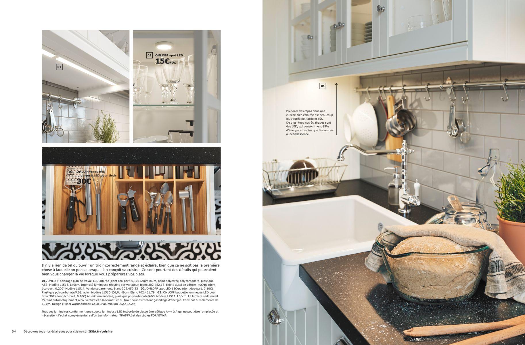 Choisissez Le Bon Eclairage Brochure Cuisines Ikea 2019 Cuisine Ikea Idee Cuisine Ikea