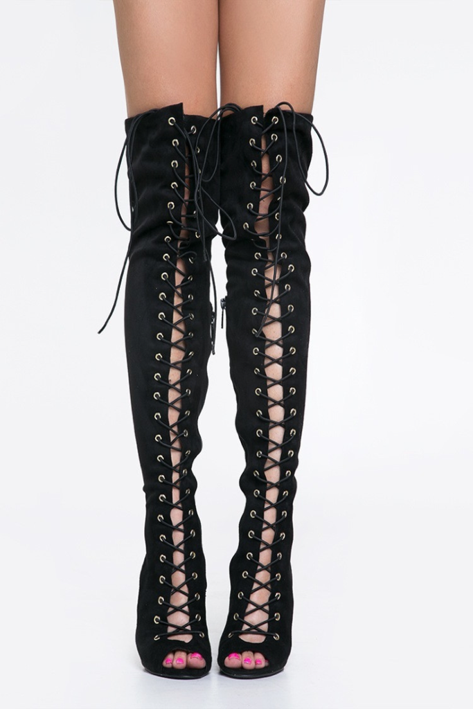 Lace It Up Thigh-High Boots (PREORDER) – Colors of Aurora | shoes ...