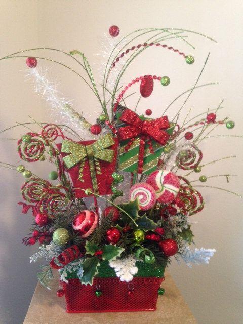 """HOLIDAY BOUTIQUE"" -  Festive Christmas Tabletop Arrangement, $ 149.95 by DecorClassicFlorals"