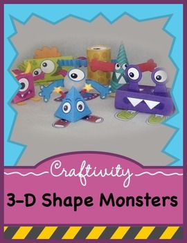3-D Shapes Craft with Monsters (With images) | Shapes kindergarten ...