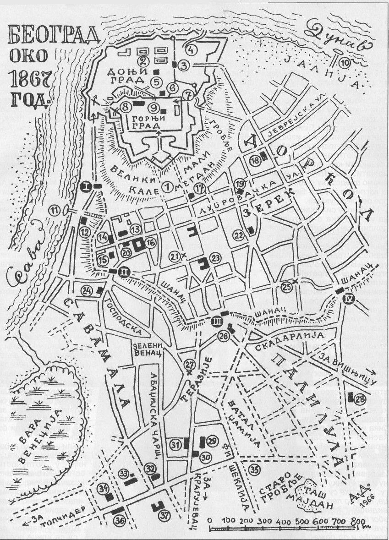 Rezultat Slika Za Plan Beograda 1850 With Images Beograd