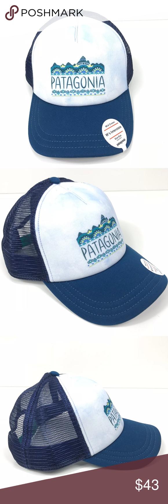 d408500cf512c Patagonia W s Femme Fitz Roy Interstate Hat Blue Patagonia W s Femme Fitz  Roy Interstate Trucker Hat