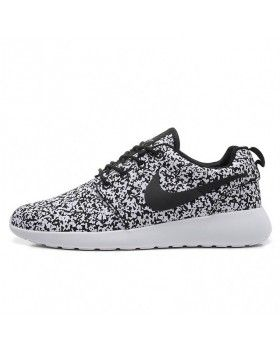 5bef0db1bcec3 Nike Roshe Run Speckled White Womens Mens Sail Black Flower Snow ...