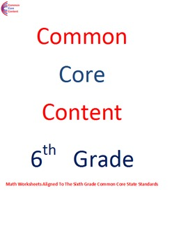 6 Ns Number System All Standards 6th Grade Common Core Math