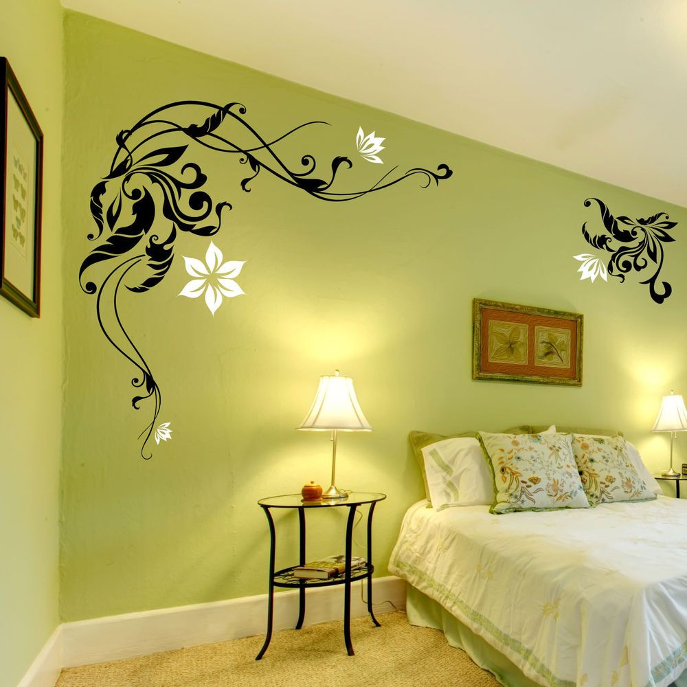 Large flower wall stickers decals graphic ebay kiss goodnight large flower wall stickers decals graphic ebay kiss goodnight bedroom deco home decor amipublicfo Gallery