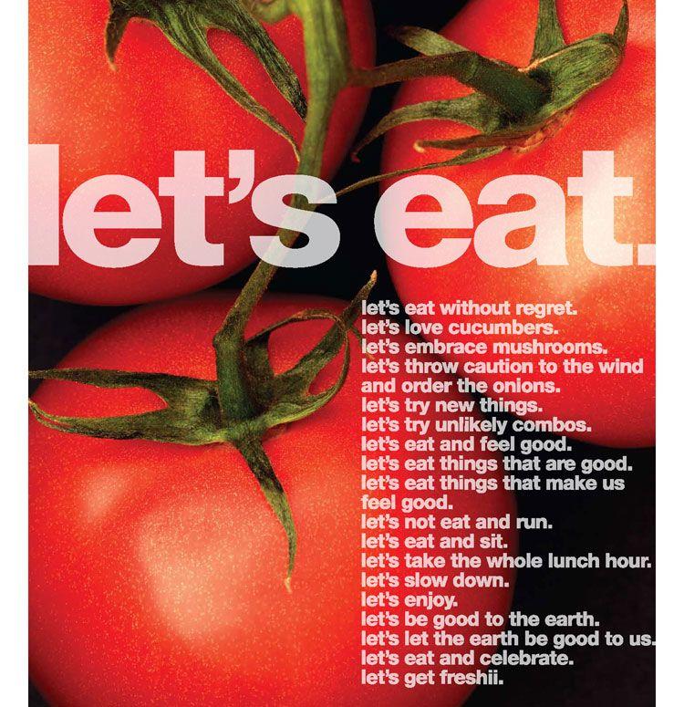 Let's eat. [Freshii mantra]