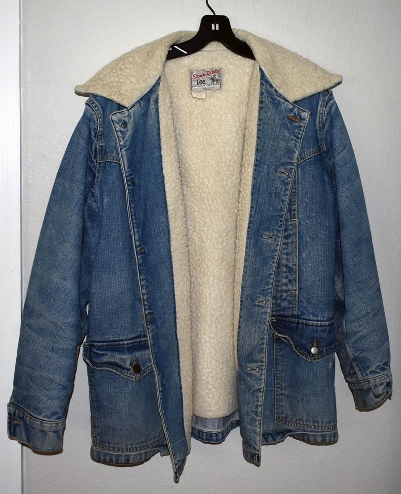 ae83446a Vintage LEE Storm Rider SHERPA DENIM JACKET Ranch Work Wear Blanket Chore  Coat #fashion #clothing #shoes #accessories #vintage #mensvintageclothing  (ebay ...
