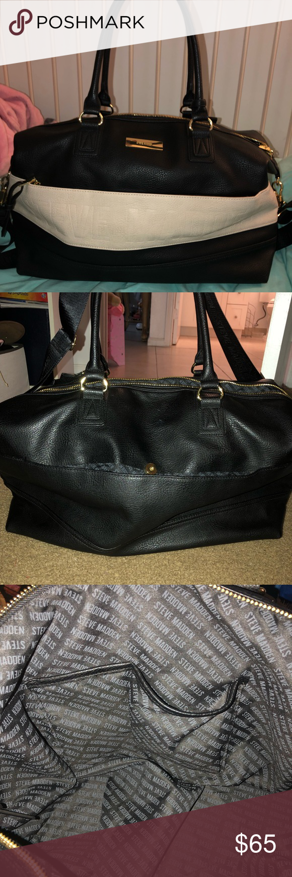 96af6b86d7d Steve Madden Duffle Bag Excellent condition. Used about 5 times. No signs of  wear