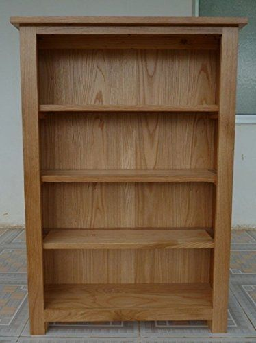 Bella Oak Medium Bookcase Solid Oak Fully Assembled House