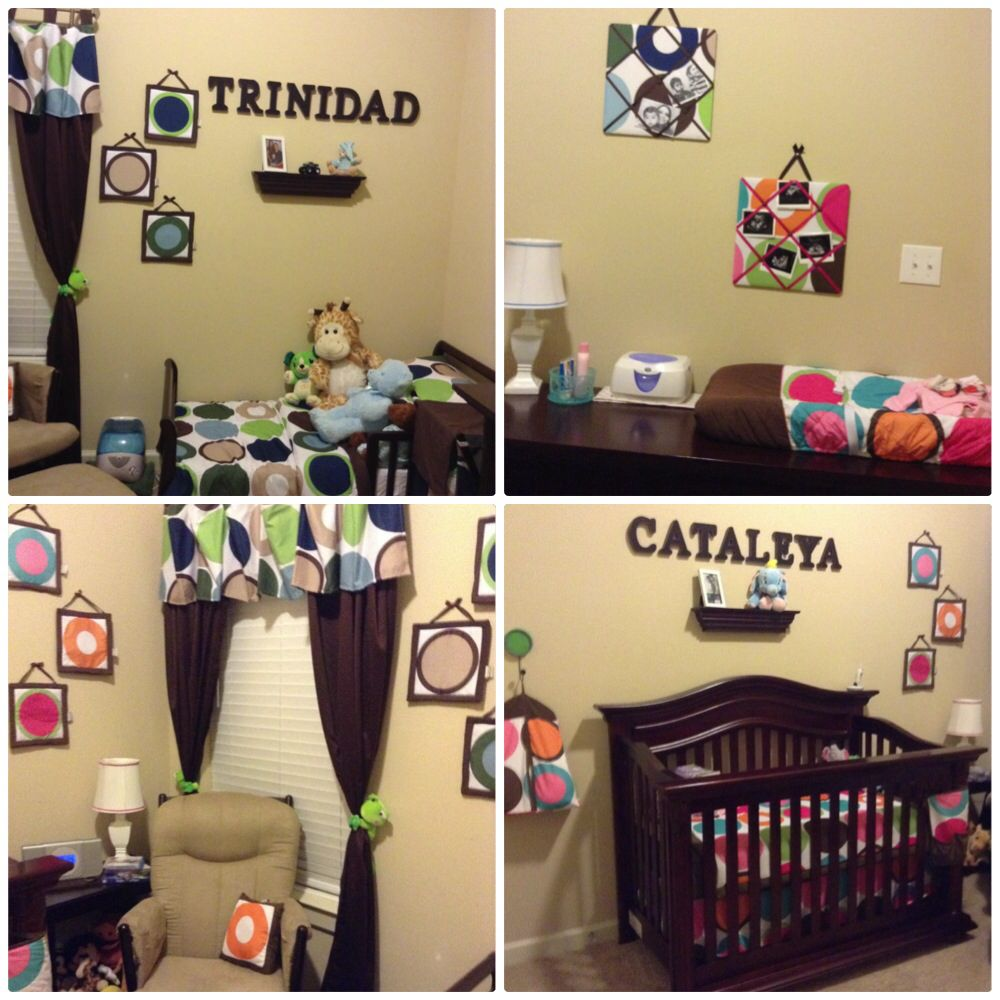 Toddler boy and infant girl shared room it is possible to have a shared theme deco dot - Deco babybed ...