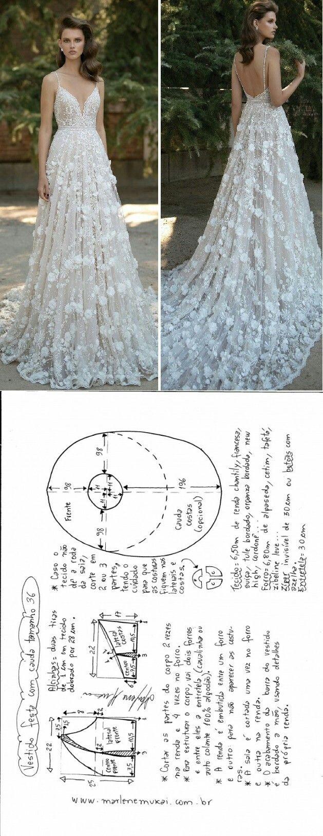Vestido de novia sencillo de hacer | costura | Vestidos, Costura y ...
