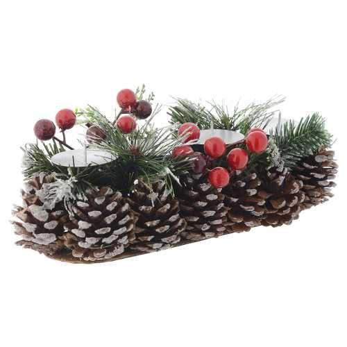Centro de mesa navideño candelabro para 4 velas venta online en