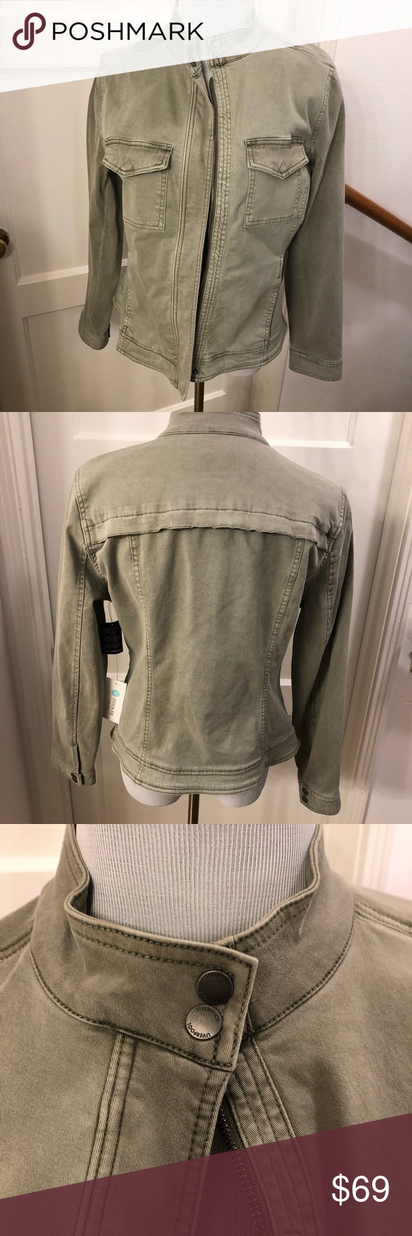 Nwt Liverpool Harper Denim Jacket M Green Denim Jacket Liverpool Clothing Liverpool Jeans [ 1740 x 580 Pixel ]