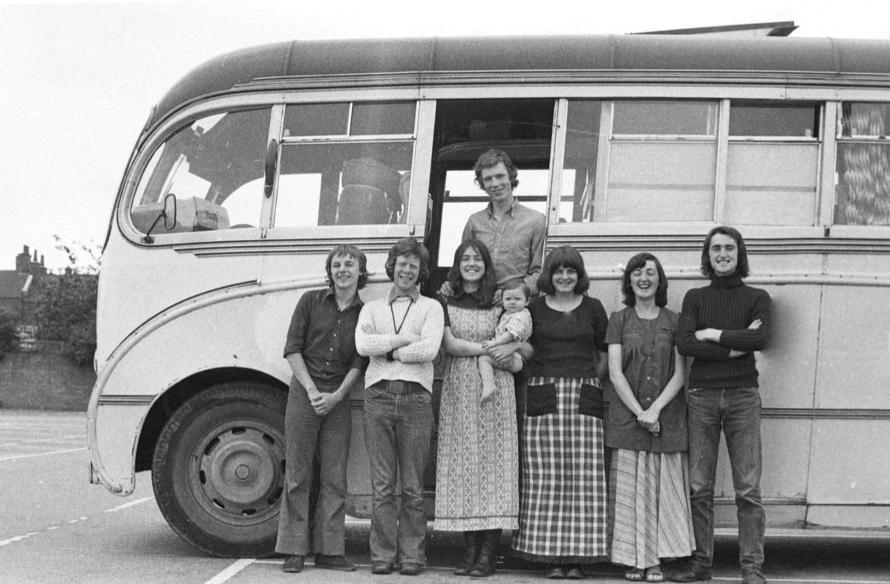 Living in the bus! 1970's.