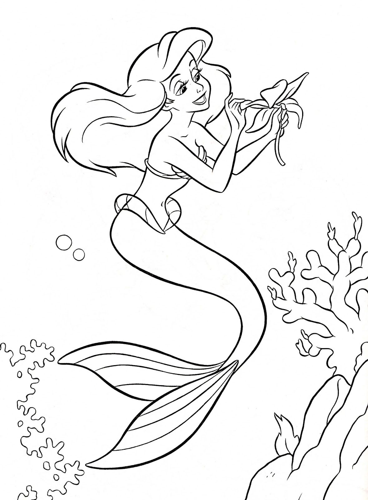 DISNEY COLORING PAGES: THE LITTLE MERMAID DISNEY COLORING PAGE ...
