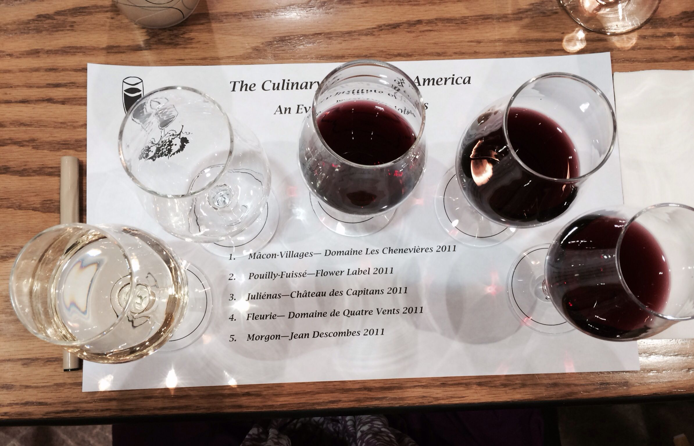Tasting Georges DuBoeuf wines from Beaujolais