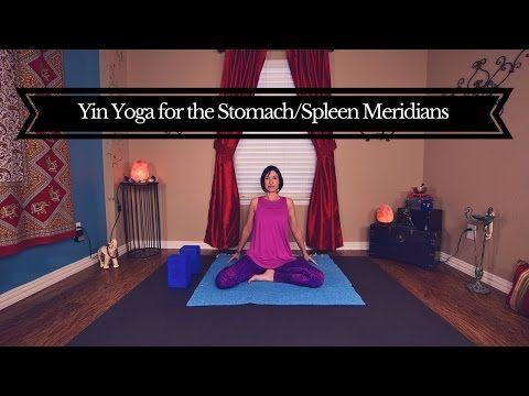 yin yoga for stomach  spleen meridians 45 mins hips