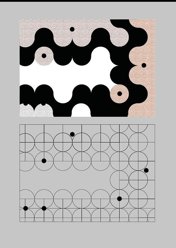 graphisme  motif courbe  projet fictif pour la samaritaine