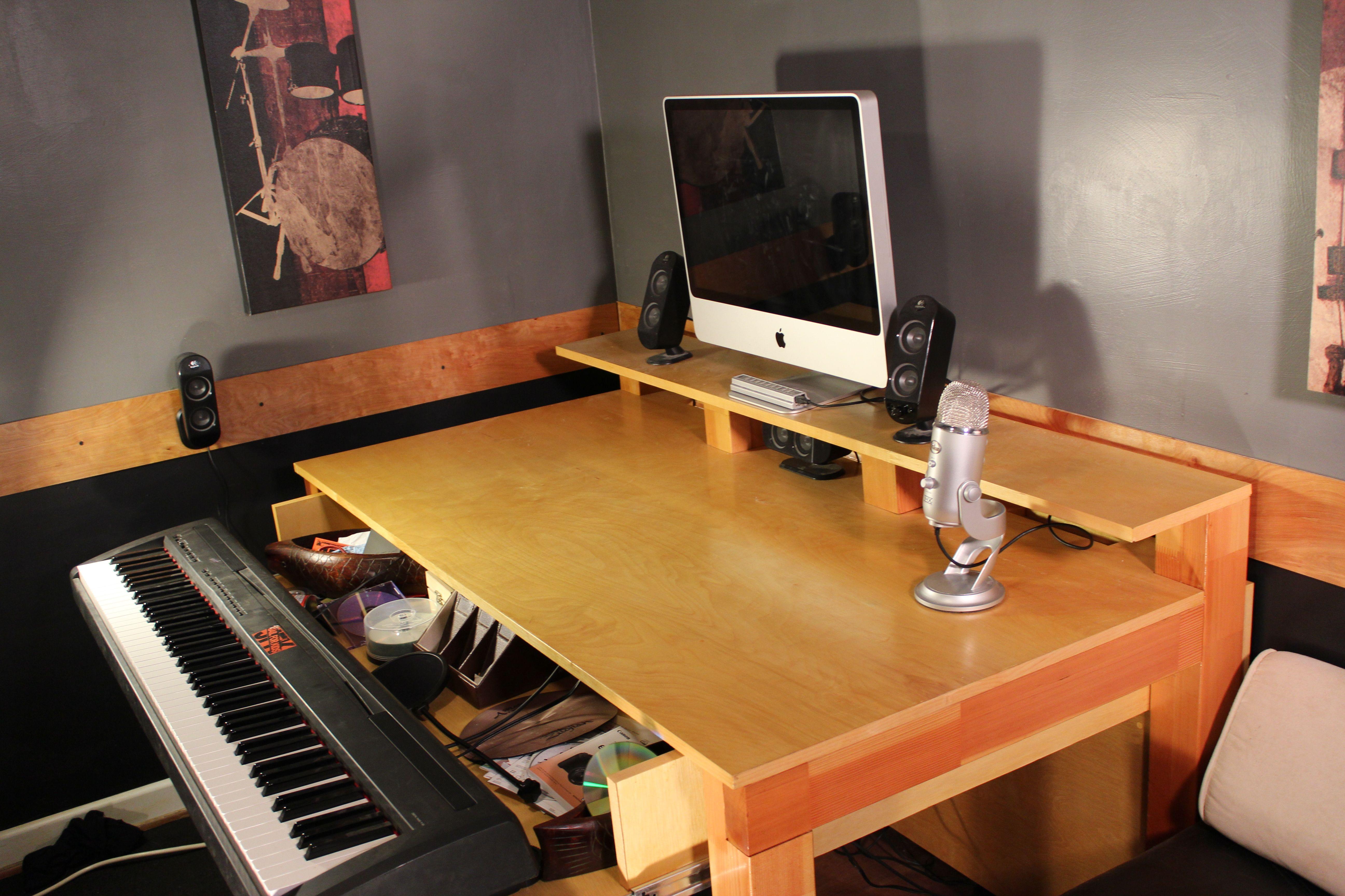 Music Studio Desk Post