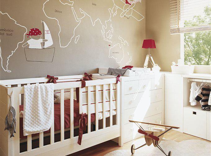 Pocos metros, muchas soluciones Dormitorios infantiles Pinterest
